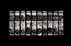 Leadership concept. For business team Stock Photos