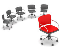 Leadership concept - chairs Stock Photography