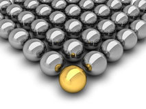 Leadership concept - chrome balls Royalty Free Stock Image