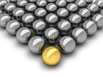 Leadership concept - chrome balls Royalty Free Stock Image