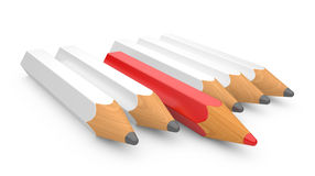 Leadership concept with color pencils Stock Photography