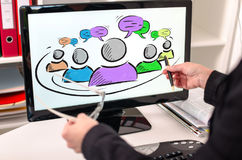 Leadership concept on a computer monitor Royalty Free Stock Photos
