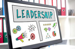 Leadership concept on a computer screen. Leadership concept shown on a computer screen Royalty Free Stock Photography