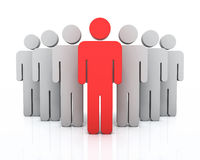 Leadership concept. 3d render leadership concept (close-up Stock Photos