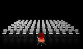 Leadership. Concept of the leadership, difficult decision in business Royalty Free Stock Photo