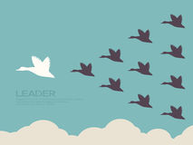 Leadership. Concept flat design Stock Image