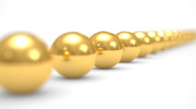 Leadership concept, gold balls Royalty Free Stock Photos