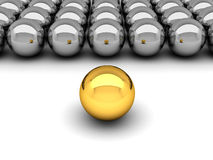 Leadership concept - gold and silver balls Royalty Free Stock Images
