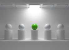 Leadership concept with green sphere Stock Images