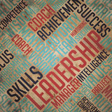 Leadership Concept - Grunge Wordcloud Background. Stock Images