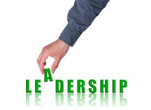 Leadership concept. Hand and word Leadership - business concept, isolated on white background Stock Photo