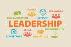 LEADERSHIP. Concept with icons. Royalty Free Stock Photos