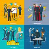 Leadership Concept Icons Set Stock Images