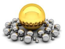 Leadership concept illustration - balls Stock Photos
