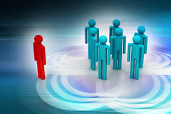 Leadership concept, leader and team Royalty Free Stock Image