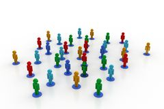 Leadership concept, leader and team Royalty Free Stock Photo