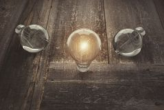 Leadership concept with light bulbs,3d rendering. Leadership concept with light bulbs, 3d rendering Royalty Free Stock Photography