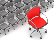 Leadership concept - office chairs Royalty Free Stock Images