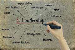 Leadership concept on paper background Royalty Free Stock Photos