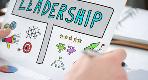 Leadership concept on a paper Royalty Free Stock Photos