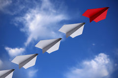 Leadership Concept Paper Planes Royalty Free Stock Image