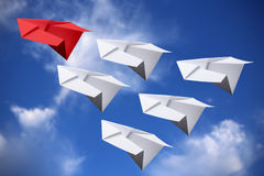 Leadership Concept Paper Planes Royalty Free Stock Images