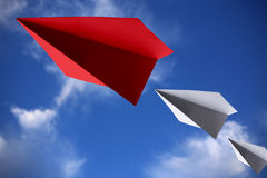 Leadership Concept Paper Planes Royalty Free Stock Photo