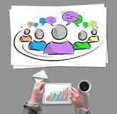 Leadership concept placed on a desk Royalty Free Stock Photography