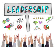 Leadership concept pointed by several fingers Stock Photography