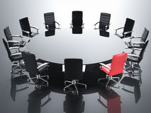 Leadership concept with red office chair stock photo