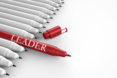 Leadership concept with red pen vector illustration
