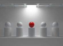 Leadership concept with red sphere Royalty Free Stock Photo