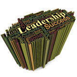 Leadership concept. Leadership related words in high extrusion, white background, concept of business leadership traits Royalty Free Stock Image