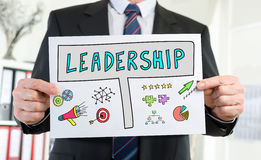 Leadership concept shown by a businessman Royalty Free Stock Photography