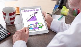 Leadership concept on a tablet Stock Photo