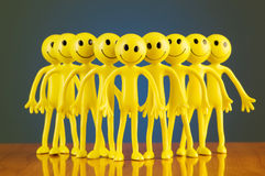 Leadership concept with smilies against background Stock Photos
