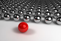 Leadership concept with spheres Stock Photo