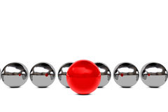 Leadership concept with spheres Royalty Free Stock Image