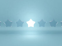 Leadership concept of stars Royalty Free Stock Photo
