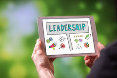 Leadership concept on a tablet Royalty Free Stock Image