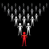 Leadership concept. In a team -vector illustration Stock Image