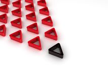 Leadership concept with triangles Stock Image