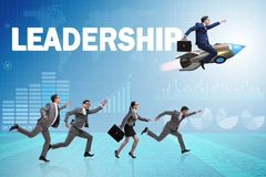 The leadership concept with various business people stock photography