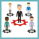 Leadership concept. Vector illustration Royalty Free Stock Photos