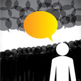 Leadership concept vector - leader & followers dis Royalty Free Stock Image