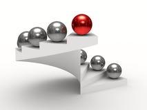 Leadership concept on white background Stock Image
