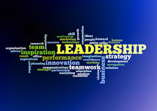Leadership concept word cloud Stock Images