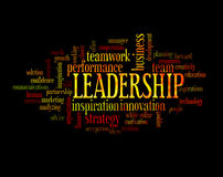 Leadership concept word cloud Stock Photo