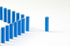 Leadership concepts. Special one battery Royalty Free Stock Photo