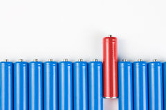 Leadership concepts. Special red battery Royalty Free Stock Image